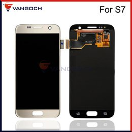 Wholesale Galaxy Screen Assembly - Grade A+++ Original LCD For Samsung Galaxy S7 SM-G930A SM-G9300 Display Touch Screen Digitizer Assembly Replacement Repair