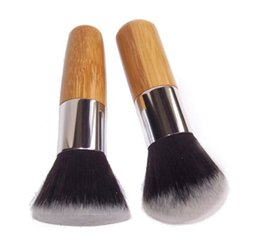 Wholesale Flat Top Kabuki Brush - Professional Makeup Brush Flat Top Brush Foundation Powder beauty Brush Cosmetic Make up brushes Tool Wooden Kabuki Make-up Brush #91