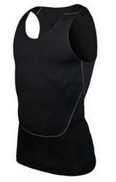 Wholesale Men S Khaki Vests - Wholesale-Free shipping New pro Men's sports training vest Sleeveless without Sleeveless Fitness clothes men's muscle training