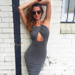 Wholesale Designer Bandage Dresses - club dresses for women sexy night summer pencil bodycon bandage clothes party backless cocktail V Neck designer runway fashion clothing Hot