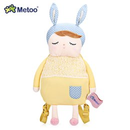 Wholesale Soft Plush Backpacks For Kids - Metoo Plush Backpacks Dream Angel Lovely Bag Soft Plush Doll Backpack for Kids Boys Girls Gifts New Dolls Stuffed Toys