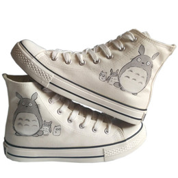 Wholesale Rubber Angels - Anime My Neighbor Totoro Cartoon Angel Hand Painted Canvas Shoes,Outdoor Leisure Fashion Sneakers,Unisex Casual Shoes Womens Fashion