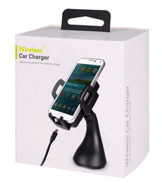 Wholesale Qi Wireless Charging Pad Black - Cellphone Car Wireless Charger Phone Holder QI Wireless Charging Pad Stand Air Vent Dashboard Car Mount Holder