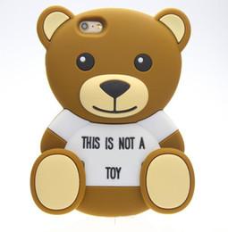 Canada 3D ours en peluche animaux de bande dessinée mignon jouet brun ours en peluche silicone cas pour iphone 4s / 5 5s / SE / 6 / 6plus cas de téléphone portable Offre