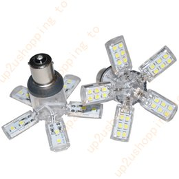 Wholesale Rv Interior Lights - 4x Octopus LED 40-3528-SMD 1156 P21W RV Camper Interior Light Bulb BA15s White for free shipping