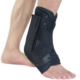Wholesale medical braces supports - Stabilizer Ankle Brace Support Sports Football Compression Medical Adjustable Lace Up Ankle Socks Protector Orthosis For Injury