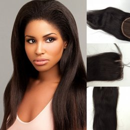 Wholesale Cheapest Bleach - Cheapest 3 Way part lace closure 4''x4'',virgin brazilian hair lace top closure unprocessed hair swiss lace bleached knots