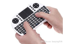 Wholesale Portable Keyboards - 2.4G Touch Fly Air Mouse Portable 2.4G Rii Mini i8 Wireless Keyboard Mouse for M8 CS918 MXQ MX MX3 MXIII tv Box 1pcs
