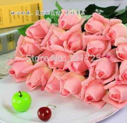Wholesale Fresh Wreaths - estive Party Supplies Decorative Wreaths Fresh rose Artificial Flowers real Touch rose Flowers, Home decorations for Wedding Party or Bi...