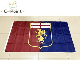 Wholesale Cm Club - Italy Genoa Cricket and Football Club 3*5ft (90cm*150cm) Polyester Serie A flag Banner decoration flying home & garden flag Festive gifts