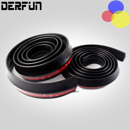 Wholesale Shipping Car Door Edge Guard - Free Shipping 2.5M Car Rubber Bumper Guard Protector Door Edge Strip Trim Styling Moulding Black Bumper Guard Protector