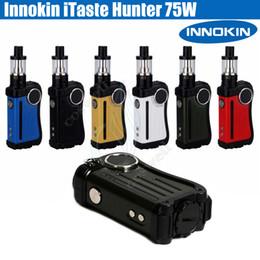 Wholesale e cig 5ml tank - Authentic Innokin iTaste Hunter Kit 75W TC Box Mod iSub V Vortex atomizer 5ml tank OLED screen cool fire IV Vapor mods e cig cigarettes DHL