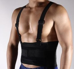 Wholesale Low Back Support Belt - 1 Pc Lot Professional Men Slimming Body Belt Lower Back Support Compression Infuse Fitness Breathable Waist Band Sports Protector