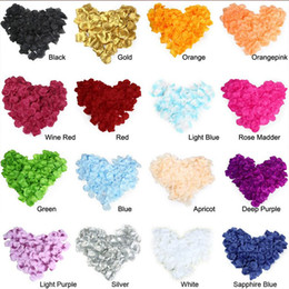 Wholesale Wholesalers For Wedding Confetti - 5000pcs Confetti Silk Rose Petals Favors Flower 12 Colors For Wedding Party Decoration Hot Sale Romantic Birthday Decoration