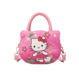 Wholesale Kitty Tote Bag - Hello Kitty Handbags For Women Cute Cat Print Fashion Hellokitty Shoulder Bags Crossbody Brand Hand Bag Luxury Leather Purses
