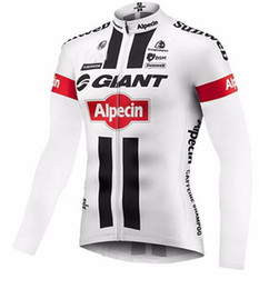 Wholesale Giant Jersey Only - WINTER FLEECE THERMAL 2016 GIANT ALPECIN PRO TEAM WHITE G04 ONLY LONG SLEEVE CYCLING JERSEY SIZE:XS-4XL