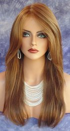 Wholesale Cheap Orange Wigs - Free Shipping 22 inch Long Waving Brown Orange Red Color Mixing Women Hair Wigs 2016 New Fashion High Quality Cheap Price Style jews wigs