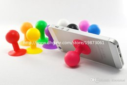 Wholesale Holders Stands Stents - Stents Silicone Iitand Octopus Ball Design Stents Bracket Holder Stand Cases for Apple iPhone 5 6 Plus 4.7 5.5 Samsung HTC