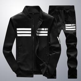 Wholesale Cotton Spring Cardigan - 2017 Brand clothes Spring outdoor Men Thin Jacket+pants Mens Sports Suit&Men Tracksuit Hoodies Sweatshirts+sportswear man YRB65