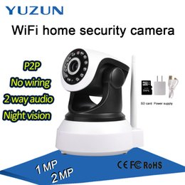 Wholesale Dome Ptz - Mini 1MP 2MP WIFI IP robot ptz Camera P2P Low Cost SD Card Wireless Internet speed dome Camera for Home