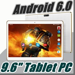 Wholesale Tablet E Gps - 5X New Arrival 9.6 Inch Tablet PC MTK8382 Quad Core Android 5.1 Tablet 1GB RAM 16GB ROM 5mp IPS Screen 800*1280 GPS 3G phone Tablets E-9PB
