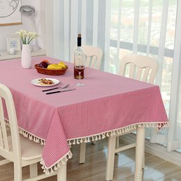 Wholesale Table Cloths White Linen - 2017 new Wholesale customization table cloth Cotton cloth Small fresh tablecloths Rectangular pasta table table cloth