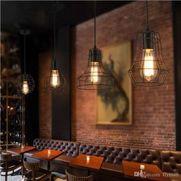 Wholesale Modern Country Pendant Lamp - Edison Bulb Vintage Iron Pendant Light Industrial Loft Retro Droplight Lamps Bar Cafe Bedroom Restaurant American Country Style Hanging Lamp