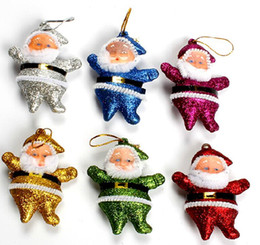 Wholesale Christmas Decorations For Windows - Santa Claus 2 inch small father christmas christmas decoration for christmas three and window free shipping CF001