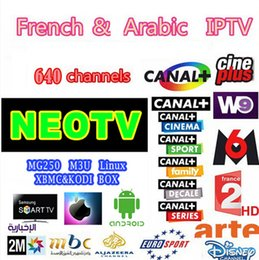 Wholesale Usa French - NEOTV QHDTV French IPTV for Smart TV with 1000+Arabic Tunisia Morocco Germany Portugal PayTV and VOD of FR AR USA with AV Cable