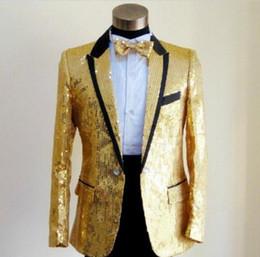 Sequins Prom Dresses Abiti Plus Size S- 4XL Paillette Male Master Stage Costumi Uomo top Host Abbigliamento Singer Blazer cappotto show cheap suits show clothing da i vestiti mostrano l'abbigliamento fornitori