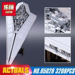 Wholesale Models Boys - New LEPIN 05028 3208Pcs Execytor Super Star Destroyer Model Building Kit Block Brick Compatible 10221 Boy christmas Gifts