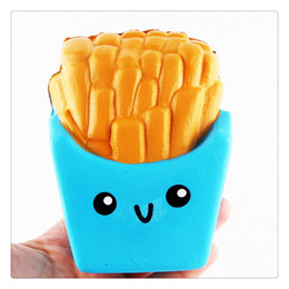 Wholesale Wholesale French Fries - 2017 New Slow Rising Squishies High Quality Kawaii Jumbo Squishy French Fries Soft Scented Bread Cake Squishy Elasticity Stretch Kid Toys