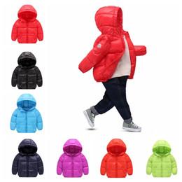 Wholesale Cartoon Boy Hood - KIDS Winter Warm Jacket Outerwear Cartoon Winter Hooded Hoodie Coat baby girls boys Jacket Outerwear 7 color LJJK813