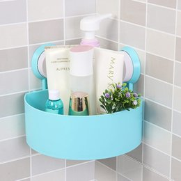 Wholesale Suction Cup Storage Shelf - Wholesale-Lovely Bathroom Corner Storage Rack Organizer Shower Wall Shelf with Suction Cup hot search