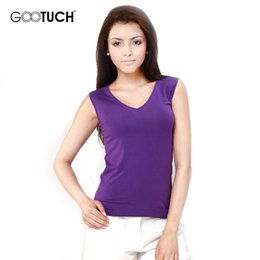 Wholesale Loose Solid Tanks For Women - Wholesale-Loose Undershirt for Women Knitted Modal Women's Camisoles & Tanks 2016 Wholesale Hot Sale Gootuch 7054