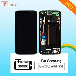 Wholesale replace lcd screen - High Quality For Samsung Galaxy S8 Edge Original LCD with Touch Digitizer with frame Full Replace G950F G950A G950 G950v G950T Free Shipping