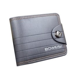 Wholesale Holder Class - Wholesale- High quality men's Wallets Wholesale First class PU leather purse short leather wallets , magnetic clasp hasp, Free Shipping