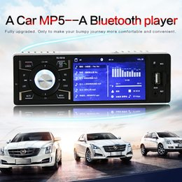 Wholesale mp5 kits - 12V 4.1 Inch 1 Din Bluetooth HD Car Stereo Radio MP3 MP5 Player Support USB FM TF   AUX In CMO_224