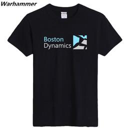 Wholesale Print Robot - Warhammer Boston Dynamic Robots Design Logo T shirt Short Sleeve O-neck Cotton Flock Printed Robots Boston Men Fashion StyleTee Shirt Homme