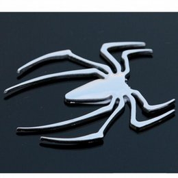 Wholesale Car Exterior Decoration Accessories - On sale quality metal spider sticker car styling DIY accessories exterior auto parts decoration for body tail