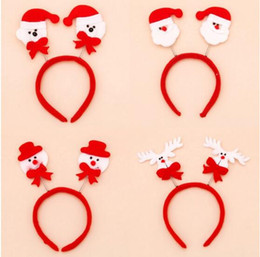 Wholesale Santa Head Bands - Christmas Headbands Hair Bands Santa Claus Snowman Reindeer Bear Head Bands Christmas Party Ornaments Hairbands for Kids Adults