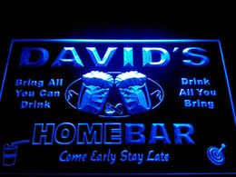 Wholesale Names Bar - DZ001-b Name Personalized Home Bar Beer Family Name Neon Light Sign