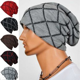 Wholesale Sports Beanies Hats - Casual Women's Winter Hats For Men Fashion Prismatic Lattice Warm Wool Knitted Hip-Hop Hat Outdoor Sport Ski Cap Beanies Gorras