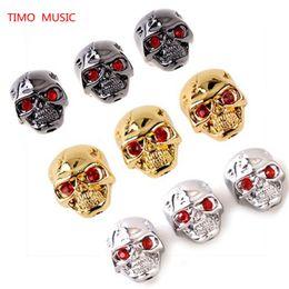 Wholesale Guitar Knobs Skull - Metal Skull Head Volume Tone Pot Speed Control Knob for Electric Guitar Bass - Black - Chrome - Gold