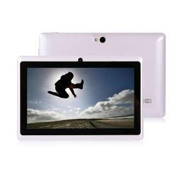Wholesale Tablet A13 Color - DHL original Q88 tablet PC A33 7 inch quad Core 512MB 8GB WIFI multi color portable Android 4.4 tablet PC