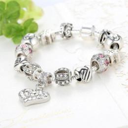 Wholesale Original Agate - Luxury Brand Women Bracelet Silver Plated Crystal Bead Charm Bracelet For Women Fine Jewelry Fit Original Bracelets Bangles