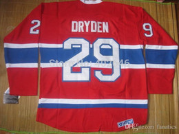 Wholesale Full Mail - 2016 Montreal #29 Ken Dryden red jerseys, free shipping by CHINA POST AIR MAIL, please read size chart before select your size