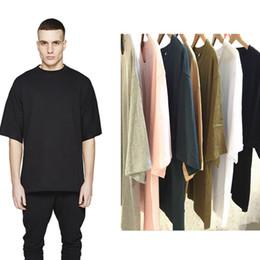 оптовые майки Скидка оптовая цена негабаритных футболка homme Kanye WEST одежда сезон стиль футболка хип-хоп футболка уличная мужская футболки