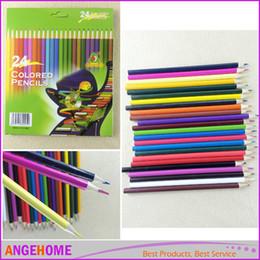 Wholesale Graffiti Sketches - 12Pcs 24Pcs Drawing Pencils DIY Painting Sketches Colored Pencil for Kid School Graffiti Drawing Painting Secret Garde Pencil