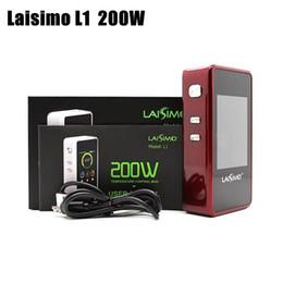 Wholesale Vw Display - Authentic Laisimo L1 200W TC Box Mod Bluetooth 4.4 VW Mod 2.4inch display laisimo 200w ecigs vapor mod VS Sigelei 200w